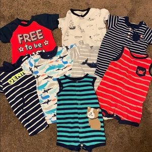 Carters jumpsuits for baby boy. 6 months